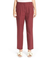 Burgundy Tapered Pants