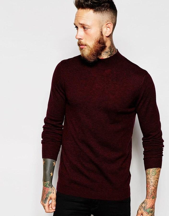 285dec4ac30d2 ... Asos Brand Merino Wool Turtleneck Sweater ...