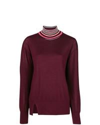 Victoria Victoria Beckham Contrast Trim Turtleneck Sweater
