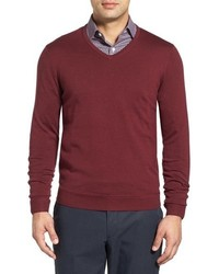 Big Tall John W Nordstrom Merino Wool V Neck Sweater