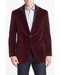 Robert Graham Finfolk Peak Lapel Cotton Velvet Sportcoat