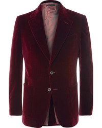 Tom Ford Merlot Shelton Slim Fit Cotton Velvet Tuxedo Jacket