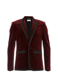 Saint Laurent Russian Embroideries Velvet Jacket