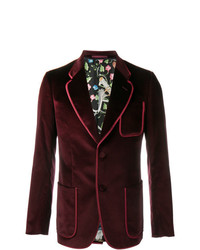 Gucci Velvet Blazer Red
