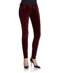 Burgundy Velvet Jeans