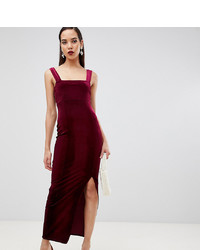 Asos Tall Asos Design Tall Velvet Square Neck Maxi Dress