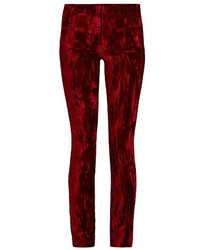 Madame skinny leg velvet and leather trousers medium 805783