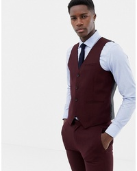 ONLY & SONS Skinny Waistcoat In Red