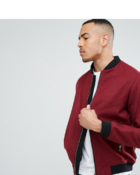 D-struct D Struct Tall Wool Bomber Jacket