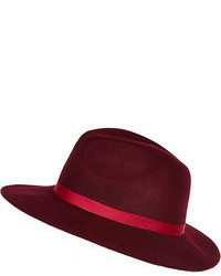 Burgundy Wool Hat