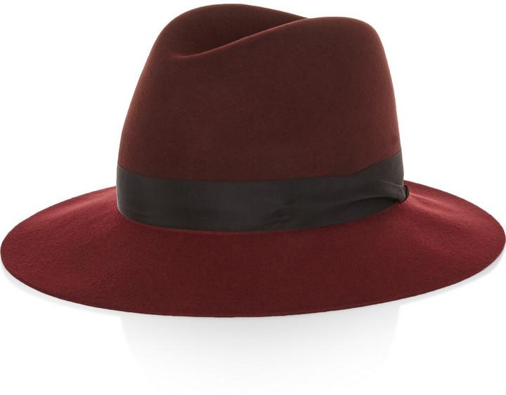 c81ea986f9d9f ... Hats Rag and Bone Rag   bone Rag   Bone Two-Tone Wool-Felt Fedora