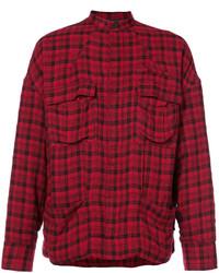 Burgundy Wool Shirt Jacket