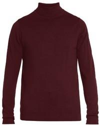 Burgundy Wool Turtleneck