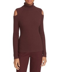 Burgundy Wool Turtleneck