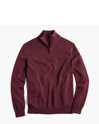 J.Crew Cotton Cashmere Half Zip Sweater