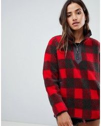 Abercrombie & Fitch Pullover Teddy Jacket In Check