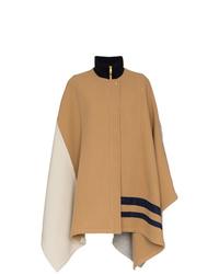 Chloé Colour Block Cape Coat