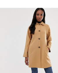 Asos Tall Asos Design Tall Crepe Coat With Buttons