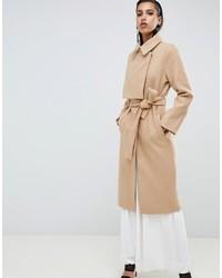 Lavish Alice Asymmetric Wool Coat With Storm Flap