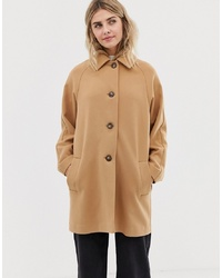 ASOS DESIGN Crepe Coat With Buttons