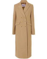ALEXACHUNG Double Breasted Boiled Wool Coat