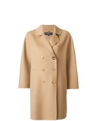 Salvatore Ferragamo Double Breasted Cape Coat