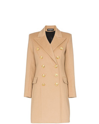 Balmain Double Breasted Wool And Cashmere Blend Coat