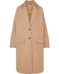 Stella McCartney Knit Trimmed Wool Coat