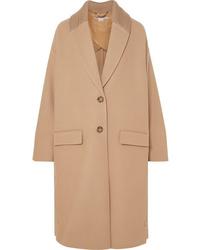 Stella McCartney Knit Trimmed Wool Coat
