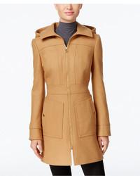 MICHAEL Michael Kors Michl Michl Kors Hooded Wool Blend Coat Only At Macys