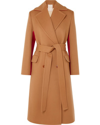 Roksanda Nate Two Tone Wool And Cashmere Blend Coat