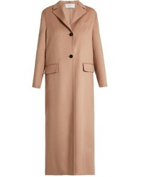 Valentino Pano Single Breasted Wool And Cashmere Blend Coat
