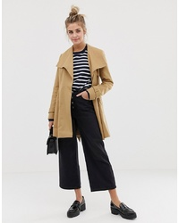 ASOS DESIGN Skater Coat With Tie Belt