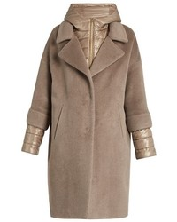 Herno Soft Brush Showerproof Wool Blend Coat
