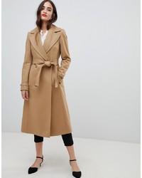 Karen Millen Wool Wrap Camel Coat