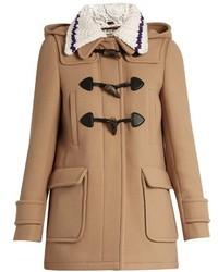 Miu Miu Detachable Collar Wool Duffle Coat