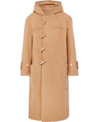 R13 Oversized Hooded Wool Duffle Coat