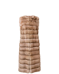 Liska Malva Long Fur Gilet