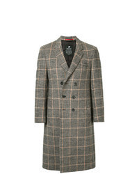 Camel Gingham Overcoat