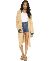 Camel Knit Coat