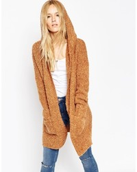 Asos Collection Coatigan In Boucle With Hood