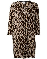 Camel Leopard Coat
