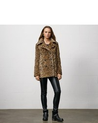 Denim & Supply Ralph Lauren Denim Supply Leopard Print Pea Coat