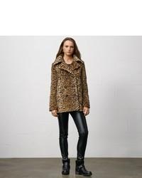 Denim & Supply Ralph Lauren Denim Supply Leopard Print Pea Coat