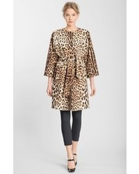 Dolce & Gabbana Dolcegabbana Leopard Print Wool Cashmere Coat