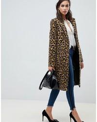 ASOS DESIGN Leopard Coat