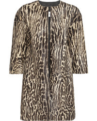 Valentino Leopard Print Calf Hair Coat