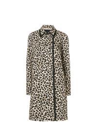 N°21 N21 Leopard Print Double Breasted Coat