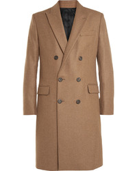 Ami Double Breasted Wool Blend Overcoat