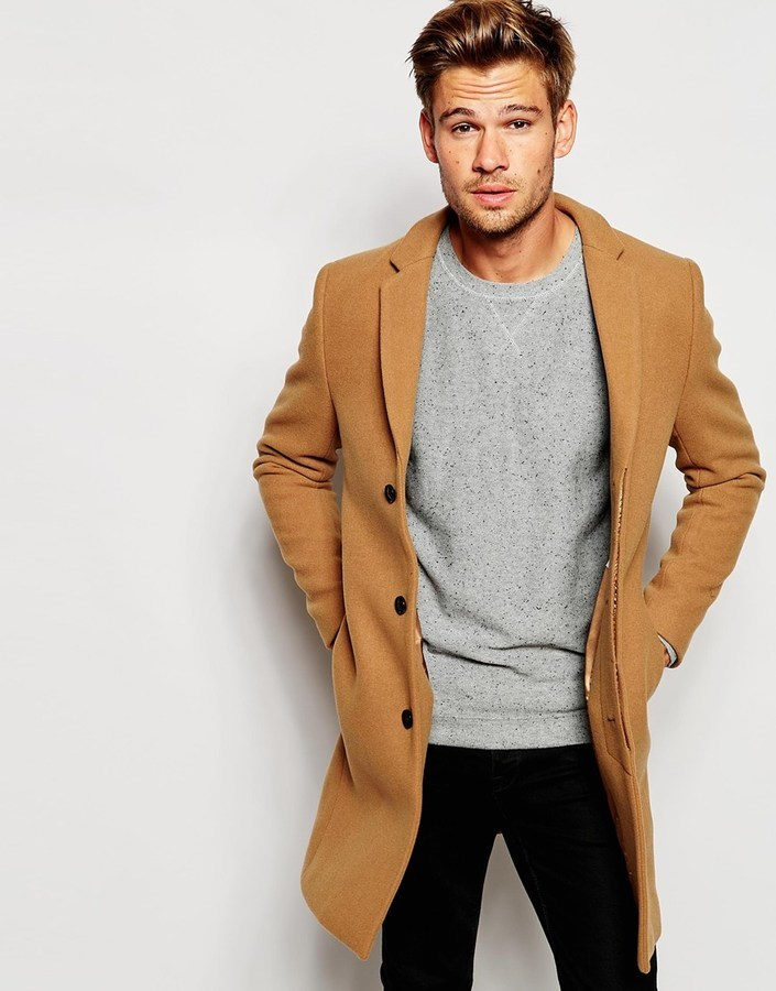 the best finest fabrics women £248, Selected Homme Cashmere Overcoat